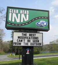 GearHead Inn sign